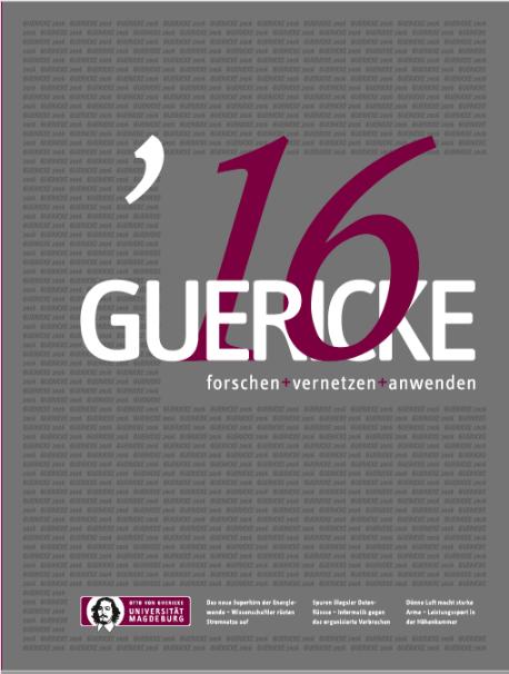 Ansehen 2016: GUERICKE. forschen + vernetzen + anwenden